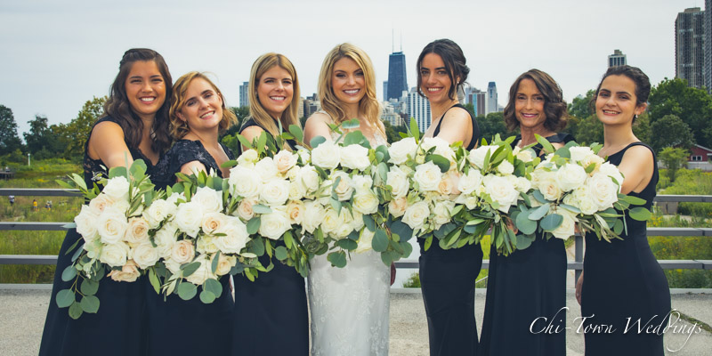 www.Chi-Town-Weddings.com Bridesmaids Lincoln Park Chicago